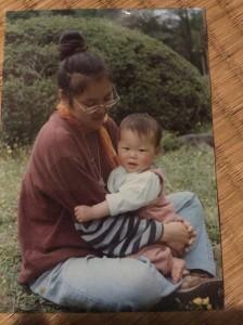 17年前の息子と私。。